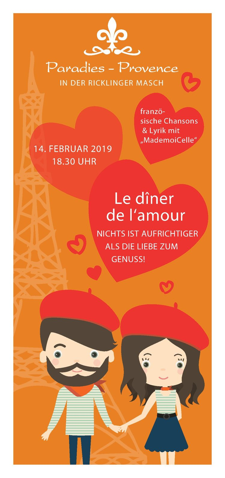 Valentinstagsmenue Hannover Im Paradies Provence